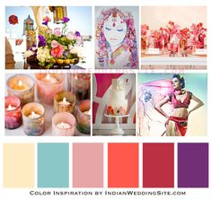 Indian Wedding Color Inspiration – Watercolour Palette