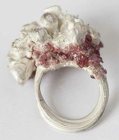Nature inspired Jewellery - sculptural flower ring capturing the ephemeral beauty of flowers // Jessica Nobley, silversmith