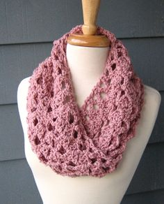 Ready to Ship DELILAH Infinity Cowl Rosey Cheeks by ArtsyCrochet, $22.00