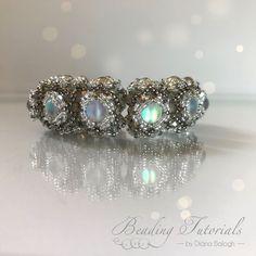 Beading tutorials and patterns, Aglio Bracelet, segmented bracelet beading pattern, beading tutorial bracelet