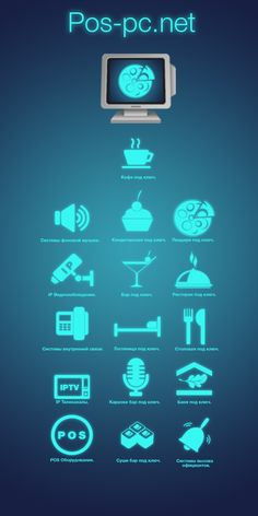 Иконки, кнопки для сайта автоматизации ресторанов