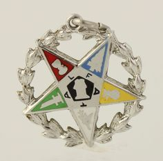 Order of the Eastern Star - Sterling Silver Masonic Women's OES Member Charm in Collectibles, Historical Memorabilia, Fraternal Organizations | eBay