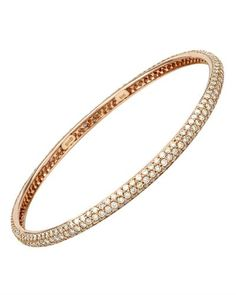 Rose gold bracelet with diamonds.