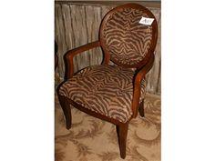 Brown/Beige Zebra Side Chair