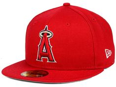 Los Angeles Angels of Anaheim New Era MLB Anniversary Patch 59FIFTY Cap Hats