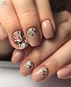 Top 50 Styles for Animal Print Nail - Reny styles Cat Nail Art, Animal Nail Art, Cat Nails, Cat Nail Designs, Gel Nagel Design, Leopard Print Nails, Nagel Gel, Nail Decorations, Nails Inspiration