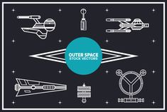 Outer Space - Vectors - YouWorkForThem