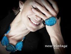 Cuff's the word. Hedvig Maigre for New Vintage by Kriss jewellery Druzy Ring, Gemstone Jewelry, Gemstones, Rock, Rings, Handmade, Feeling Happy, Vintage, Jewellery