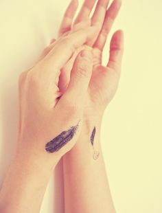 2pcs Small Feather  InknArt Temporary Tattoo  wrist by InknArt, $3.49