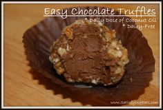 Easy Chocolate Truffles  @Rhea Walsh Bibbs Eats: Sugar Free, Grain Free & Hunger Free