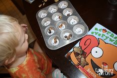 Acorn Counting, Acorn Color Matching, Acorn Marble Painting, and More - Tot School at The Educators' Spin On It