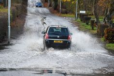 Flooded Roads, Car, Automobile, Vehicles, Cars