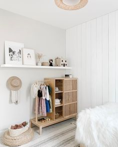 This weekend we added this fun wardrobe armoire to Celeste's room. A nice piece that will grow with her— not gonna lie, at first I thought… Ikea Toddler Room, Montessori Toddler Rooms, Kids Room, Big Girl Rooms, Baby Boy Rooms, Baby Bedroom, Girls Bedroom, Ikea Baby, Deco Kids