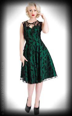 Grune vintage kleider
