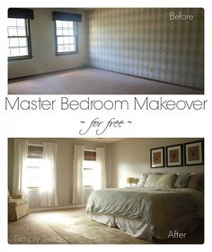 Master Bedroom Makeover for Free
