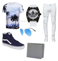 """vacation"" by shyannbritton ❤ liked on Polyvore featuring adidas, Dsquared2, Vans, Ted Baker, men's fashion and menswear"