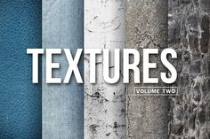Textures - Volume Two by Wing's Art Studio on @creativemarket