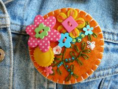 felt brooch by gretchent on Etsy, $12.00