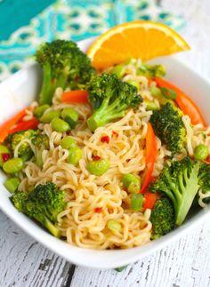 El tazón de pasta con verduras al vapor para mantener la figura a raya.