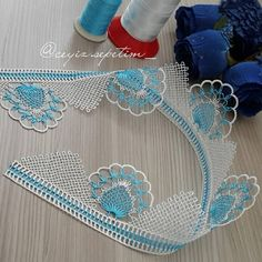 Crochet Borders, Crochet Patterns, Needle Lace, Satin Stitch, Lace Making, Indian Outfits, Needlework, Diy And Crafts, Crochet Necklace