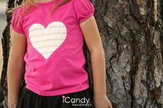 icandy handmade: (Tutorial) Ruffled Heart Tee
