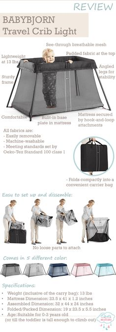 Babybjorn Travel Crib Light Review And Features - Planning for your summer holiday? The babybjorn travel crib is your much needed travel gear if you are traveling with your baby or young toddler.