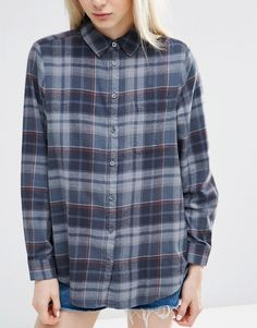 Image 3 of ASOS Oversized Check Shirt in Grey