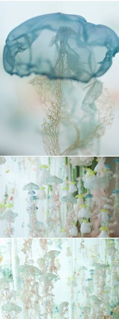 a textile jellyfish installation by sayuri sasaki hemann <3