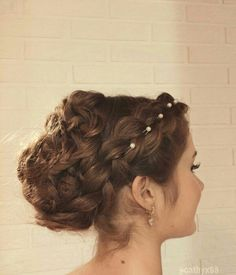 Prom hairstyle with braids ✨ #prom #hairstyle #braids