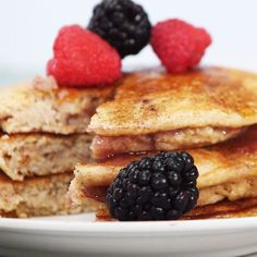 How To Make Stuffed Multigrain Pancakes recipe: This breakfast treat just got a healthy makeover. This pancake recipe replaces white flour with more nutritious whole grains, and the berry jam stuffing gives you some added sweetness without too much sugar.   Health.com