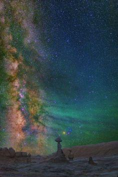 Milky Way, Goblin Valley State Park Photo by David Lane