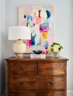 Designer to Watch: Lindley Arthur - Sophisticated Style Antique Dining Rooms, Blue Backsplash, Antique Chest, Antique Interior, Contemporary Abstract Art, Modern Art, Hand Painting Art, Light In The Dark, Antiques
