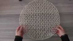 Pin on Craft Ideas Jute Crafts, Diy Crafts For Gifts, Decor Crafts, Diy Home Decor, How To Make Placemats, Twine Flowers, Crochet Decoration, Newspaper Crafts, Cardboard Crafts