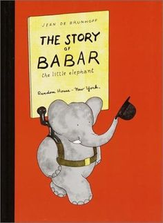 The Story of Babar: The Little Elephant by Jean De Brunhoff, http://www.amazon.com/dp/0394805755/ref=cm_sw_r_pi_dp_qlk8ub0D3A59Y
