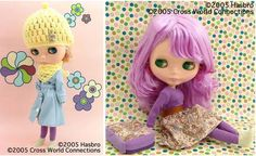 Neo Blythe Inspired by Pinafore Purple