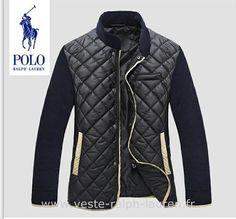 cd2b56e2c8d25 Polo officiel - Ralph Lauren hommes manteau nouvelle coton mode pas cher  noir rew Doudoune Ralf Lauren