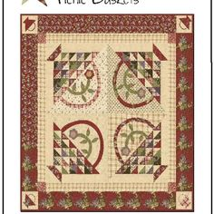 Picnic Basket applique quilt pattern by Jan Patek & Jenny Doan.