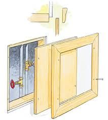 wooden access doors for plumbing - Google Search  sc 1 st  Pinterest & DIY access panels. For the basement | Pinterest | Basements ...