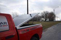 solar tonneau cover opened