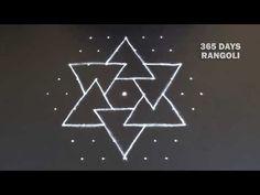 Small Rangoli Design with dots Kolam*Creative Rangoli Design*ಚುಕ್ಕಿ ರಂಗೋಲಿ