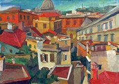 """Renato Guttuso - """"Tetti di Roma"""", (1942)"""