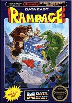 Rampage - NES Game Original Nintendo NES game cartridge only. All DK's classic used games are cleaned, tested, guaranteed to work and backed by a 120 day warranty. Giant monsters climbing buildings, e Vintage Video Games, Classic Video Games, Vintage Videos, Retro Videos, Retro Video Games, Vintage Games, Video Game Art, Retro Games, Nes Games