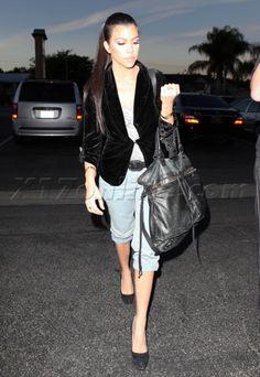Short Jeans & Blazer / Kourtney Kardashian