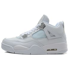 sneakers for cheap 68f40 097b8 Air Jordan 4 Retro Silver Anniversary White Metallic Silver For Sale Air  Jordan 4 - Nike official website Up to discount