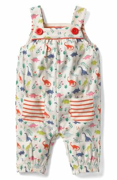 Main Image - Mini Boden Jersey Overalls (Baby Girls & Toddler Girls)