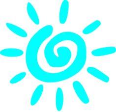 Blue Sun Clip Art
