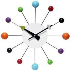 Infinity Instruments Orb Spoke Starburst Clock Midcentury Modern Wall Clock 15 inch Retro Starburst Wall Clock Ball W. Mid Century Decor, Mid Century Style, Modern Clock, Modern Wall, Mid Century Modern Kitchen, Midcentury Modern, Decorative Accessories, At Least, Open Face