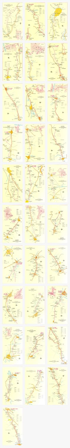 Click to download this entire series of Camino Francés maps