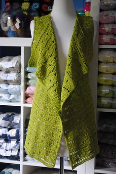 Ravelry: Drapey Crochet Vest pattern by Tammy Hildebrand ~ Free Red heart pattern.