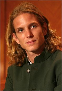 Prince Andrea Casiraghi of Monoco.  He looks like Michael Bolton to me.